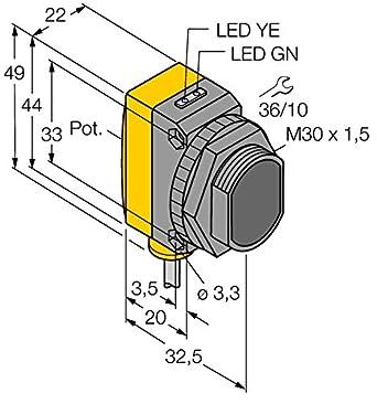 3072605 - qs30lv, Opto sensor Reflexion Barrera de luz: Amazon.es: Industria, empresas y ciencia