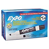 Case of 12 Dozens of Expo Dry Erase Chisel Tip Low Odor Black Markers Total of 144 Markers