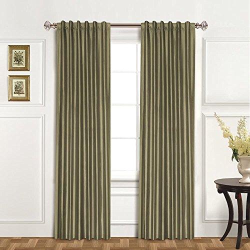 United Curtain 100-Percent Dupioni Silk Window Curtain Panel, 42 by 95-Inch, Sage Silk Dupioni Window Panel