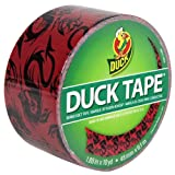 Duck Brand 280423 Printed Duct Tape, Red Dragon, 1.88 Inches x 10 Yards, Single Roll