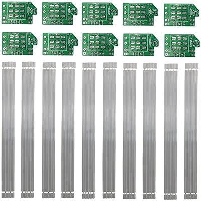 amazon com 3pdt 10 pcs stomp switch footswitch wiring pcb board rh amazon com 2-Way Toggle Switch Wiring Diagram 3PDT Switch Wiring Diagram Orientation