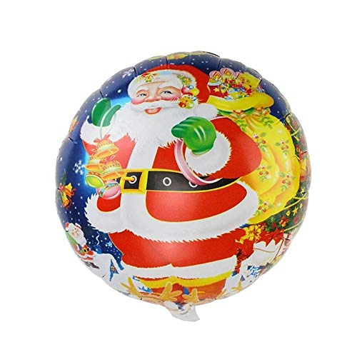 VietFX Pendant & Drop Ornaments - Urijk Home Party Decoration Cute Christmas Tree Star Santa Claus Snowman Bell Foil Balloons Xmas Inflatable Air Balloons Gift 1 PCs