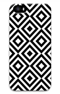 Hot iPhone 5S 3D Customized Unique Print Design Diamond Pattern Black And White New Fashion iPhone 5/5S Cases