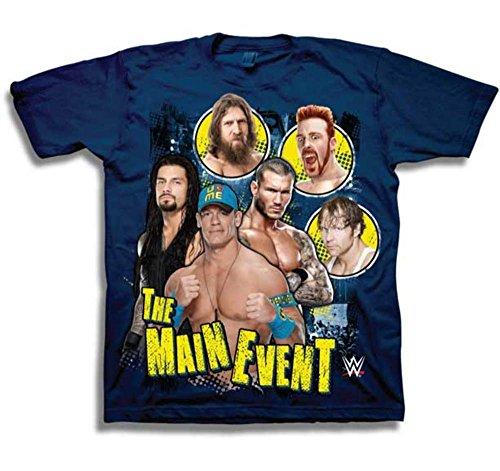 John Cena Roman Reigns Sheamus Blue Kids WWE T-shirt Boys-YS by WWE