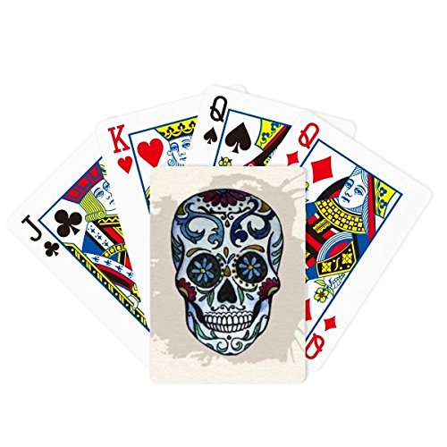 DIYthinker Gray Skull Mexico National Culture Illustration Poker Playing Cards Tabletop Game Gift