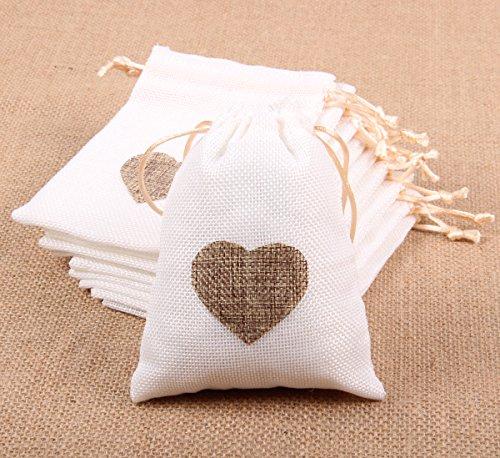 Eco Friendly Mini Cotton Drawstring Bags - 7