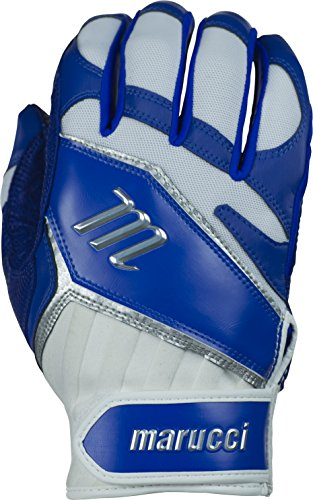 Marucci Elite Batting Gloves, Blue, Adult Medium