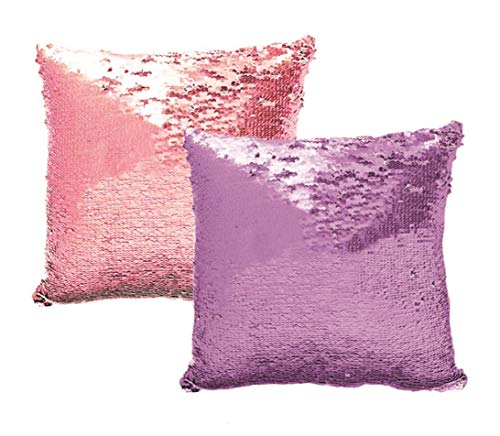 - Lets be Mermaids Sequin Reversible Decorative Colorful Throw Decorative Pillow Couch Sofa Bed 16