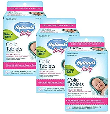 Hyland's Baby Colic Tablets, Natural Relief of Colic Gas Pain and Irritability