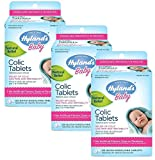 Hyland's Baby Colic Tablets, Natural Relief of Colic Gas Pain and Irritability,125 Count (Pack of 3)
