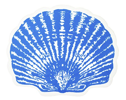 Vinyl-Placemats-Table-Mats-Wipe-Clean-Wipe-Off-Nautical-Decor-Beach-Party-Blue-Shell