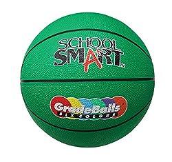 School Smart Gradeballs Rubber Basketball - Junior 27 inch - Green