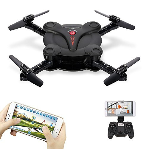 Goolsky-FQ17W-Mini-RC-Quadcopter-Foldable-Drone-with-WiFi-FPV-Camera-Live-Video-Altitude-Hold3D-FlipsGravity-Sensor-Phone-Control-or-Remote-Controller