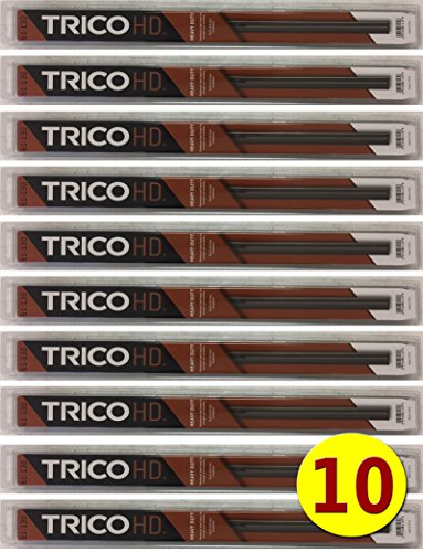 "10-Wiper Factory Master Case - Bulk 22"" HD Wiper Blades for Fleets & Service Repair Shops - TRICO 61-220 Heavy Duty 61-Series Metal Frame 22 Inch for FLAT GLASS ONLY fits Saddle Attachment Arms -  61-220 (x10)"