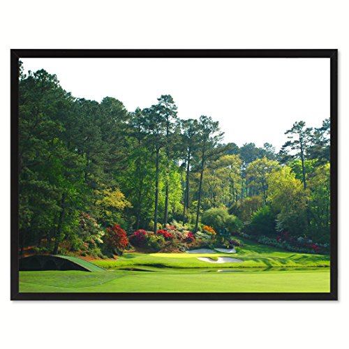 (SpotColorArt Augusta Golf Course Photo Picture Handcrafted Framed Canvas Print)