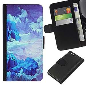 All Phone Most Case / Oferta Especial Cáscara Funda de cuero Monedero Cubierta de proteccion Caso / Wallet Case for Apple Iphone 5C // Iceberg Planet Space Terrain Blue