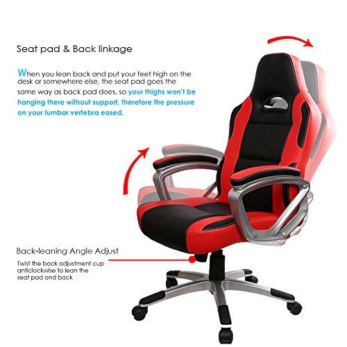 Fine Intimate Wm Heart High Back Ergonomic Pu Leather Office Machost Co Dining Chair Design Ideas Machostcouk
