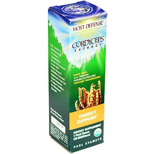 Host Defense - Cordyceps Extract, Mushroom Support for Energy, 30 Servings (1 oz)