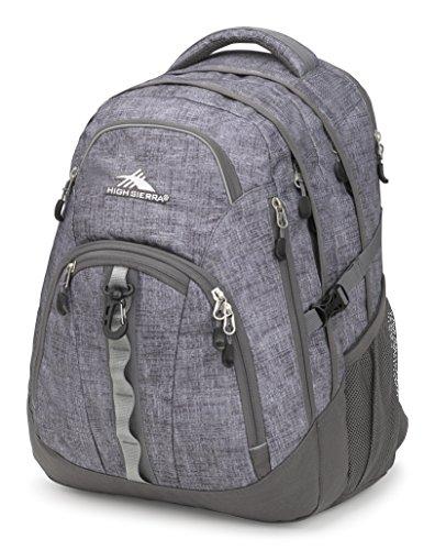 Multi Pocket Deluxe Organizer - High Sierra Access II Laptop Backpack, Woolly Weave/Slate