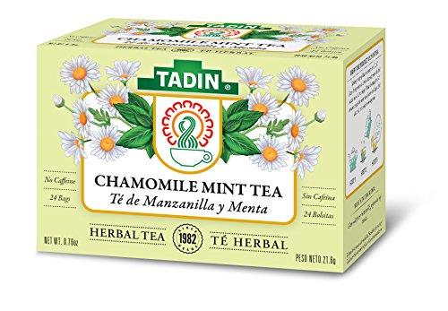 Cheap Tadin Herb & Tea Co. Chamomile & Mint Herbal Tea, Caffeine Free, 24 Tea Bags, Pack of 6