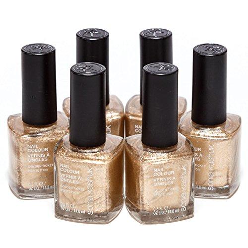 nail polish golden color - 7