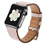 LEUNGLIK Watch Band for Apple Watch 38mm 40mm Watch Wristbands Dressy Classic Replacement Bands Compatible for iWatch Series 4/Series 3/Series 2/Series 1 with Sliver Stainless Steel