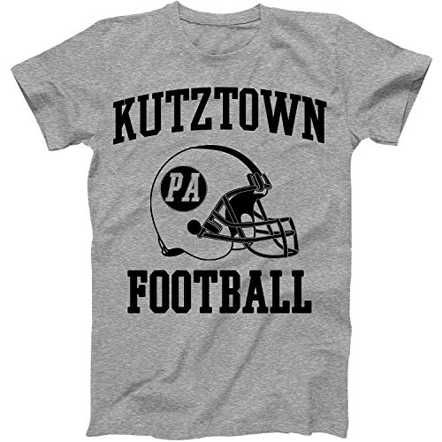 Vintage Football City Kutztown Shirt for State Pennsylvania with PA on Retro Helmet Style Grey Size X-Large