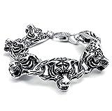 Best Adisaer Mens Bracelets - Adisaer Womens Mens Stainless Steel Bracelets 3D Tiger Review