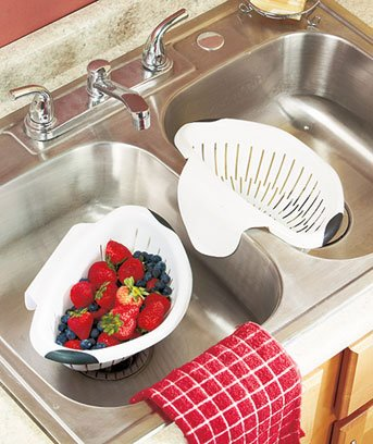 Set Of 2 Over The Sink Colanders