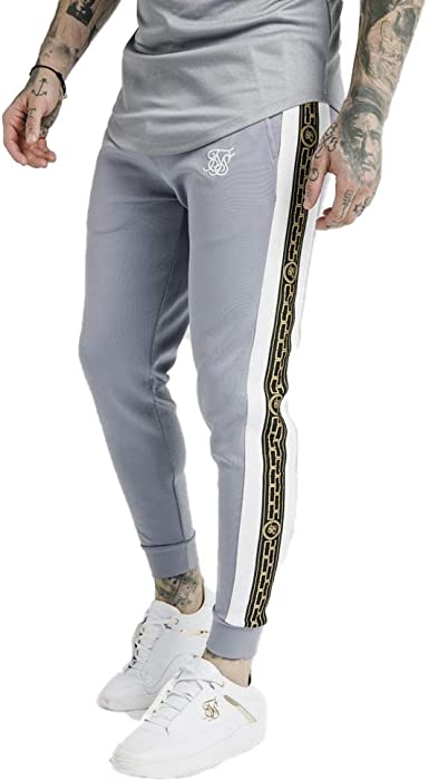 Sik Silk SS-15342 Panelled Racer Cartel Tape Cuffed Jogger - Grey ...