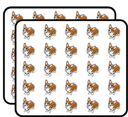 Happy Welsh Corgi Dog Animal Art Decor Sticker for Scrapbooking, Calendars, Arts, Kids DIY Crafts, Album, Bullet Journals 50 Pack