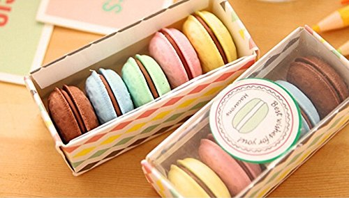 5 colors kawaii Korea stationery delicious dessert macaron cake gustless school material eraser for kids free - Co And Shipping Tiffany