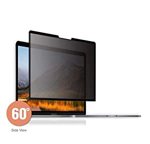 GeckoCare 13 inch Removable Edge Adhesive Privacy Filter Screen Protector, Anti-spy,Anti-Glare Film Compatible with MacBook Pro 13.3 Inch 2017,2018,2019 and MacBook Air 13.3'',2018 New