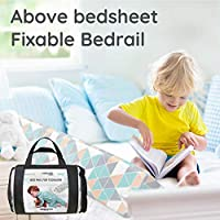 Includes Clip to Hold in Place! Toddler Bed Rail Keep Them Safe at Night from Falling Out of Bed Bed Rails for Toddlers