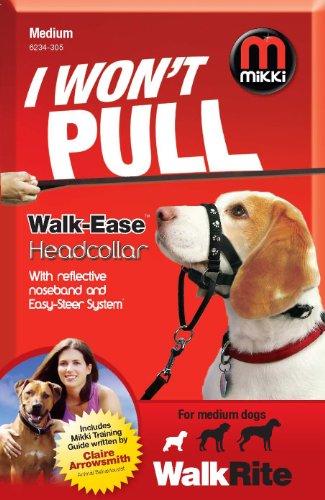 Mikki Training Walk-ease Dog Head Collar, Medium Dog Halter by Interpet Limited