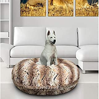 product image for BESSIE AND BARNIE Signature Simba Luxury Extra Plush Faux Fur Bagel Pet/Dog Bed