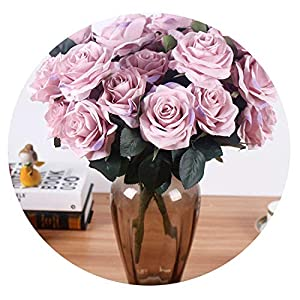 Zalin Artificial Silk 1 Bunch French Rose Floral Bouquet Fake Flower Arrange Table Daisy Wedding Flowers Decor Party Accessory Flores 65