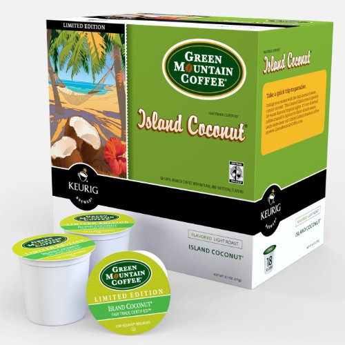 Green Mountain Coffee Eyot Coconut K-cups Coffee 72 Count