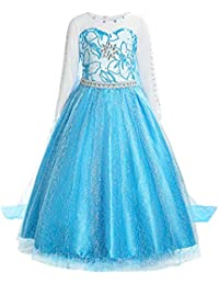 Little Girls Princess Fancy Dress Elsa Costume