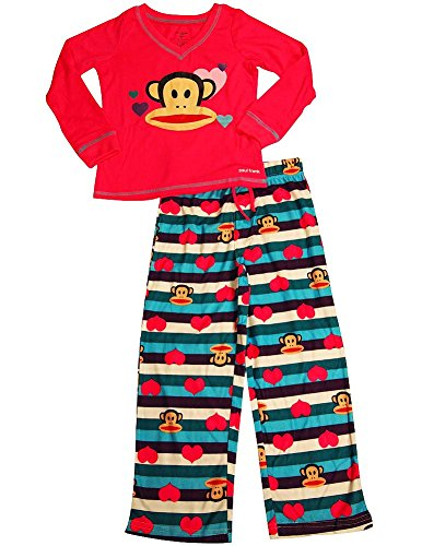 Paul Frank - Little Girls' Long Sleeve Pajama Set, Pink, Multi - Frank Paul Designer