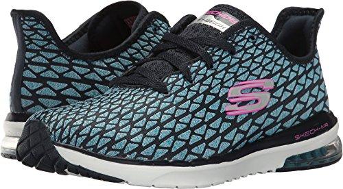Skechers Women's Skech-Air Infinity - Free Fallin, Sneaker, Navy/Turquoise, 6.5 US M