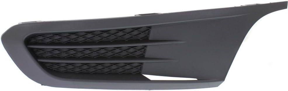Fog Light Cover For 2011-2014 Volkswagen Jetta Sedan Right Outer Plastic Black