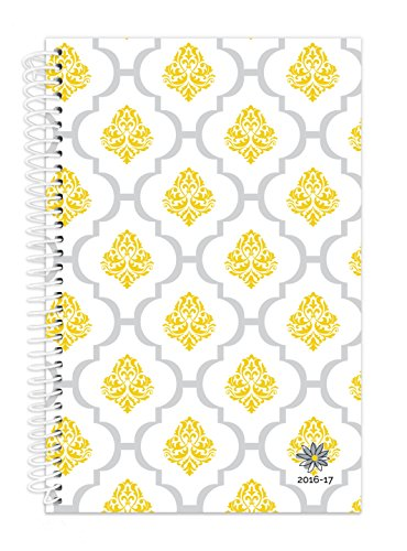 "Bloom Daily Planners 2016-17 Academic Year Daily Planner - Passion/Goal Organizer - Fashion Agenda - Weekly Diary - Monthly Datebook Calendar - August 2016 - July 2017 - 6"" x 8.25"" - Lattice Stamp"