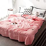 YU&AN Simple Quilt,Bed Linings,Anti-Wrinkle Hypoallergenic Bed Cover Suitable for Spring Summer Autumn-I 180x200cm(71x79inch)