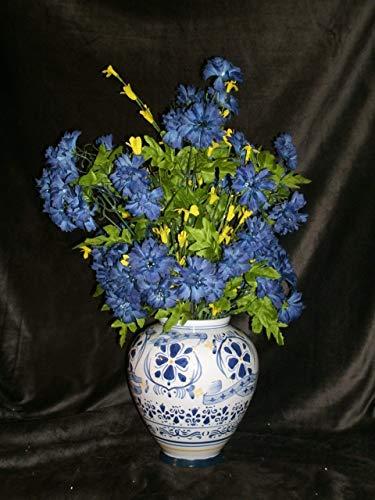 - The Unique Gift Boutique-Rhapsody in Blue Silk Cloth Floral Arrangement