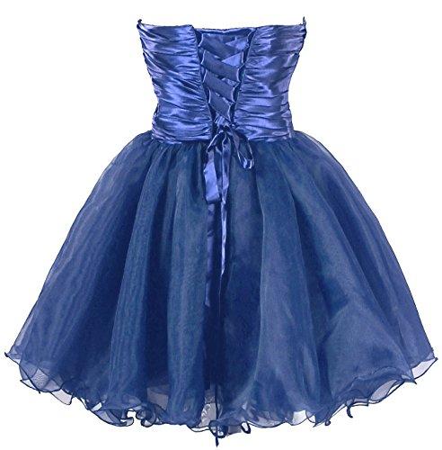 Wulstiges Kleid Kmformals Abschlussball Damen Blau Cocktailparty kurzes Kleid Yrn5qrv