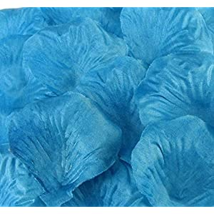 1000pcs Silk Rose Flower Petals Wedding Party Table Confetti Decorations Turquoise-1000pcs 116