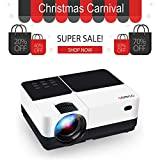 "Video Projector, GEARGO 2800 Lumens HD Portable Projector with 185"" and 1080P Support,..."