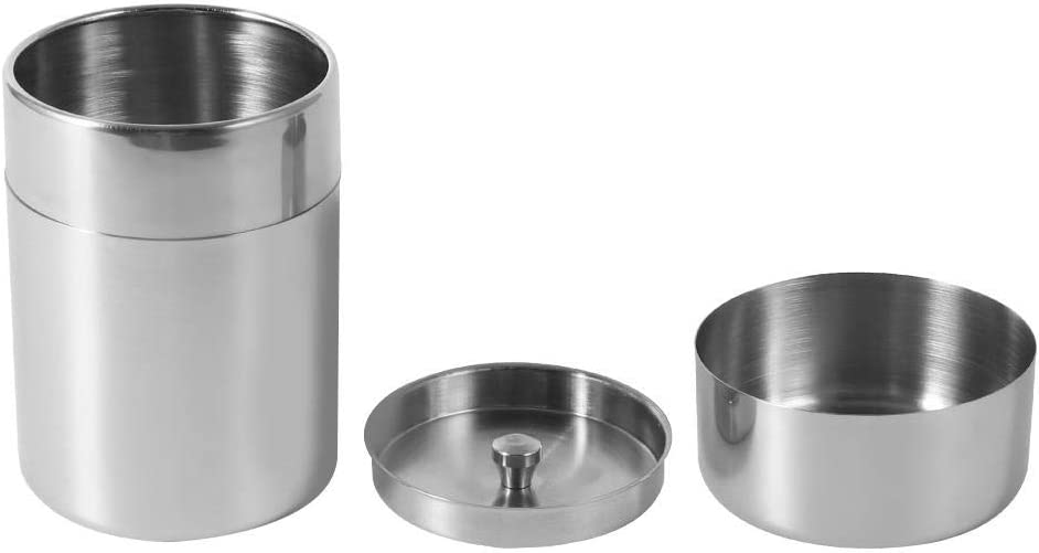 Tea Tin, Stainless Steel Tea Tins Canister Home Kitchen Storage Canisters for Tea Coffee Sugar Food(S)
