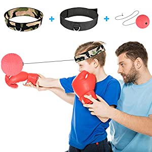 RooRuns Pro Reflex Boxing Trainer, Boxing Reflex Ball Boxing Headband with Ball on String for Speed Punching Speedpunch Boxing Training Kit for Kids Women Men